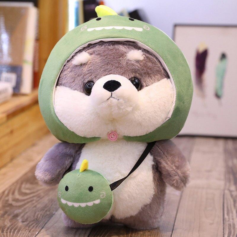 可愛超萌哈士奇毛絨玩具睡覺抱枕床上小玩偶公仔布娃娃女生日禮物