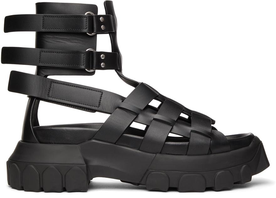 Rick Owens 黑色 Hiking Tractor 凉鞋