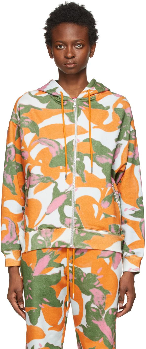 Dries Van Noten 多色 Len Lye 联名 Floral Print 拉链连帽衫