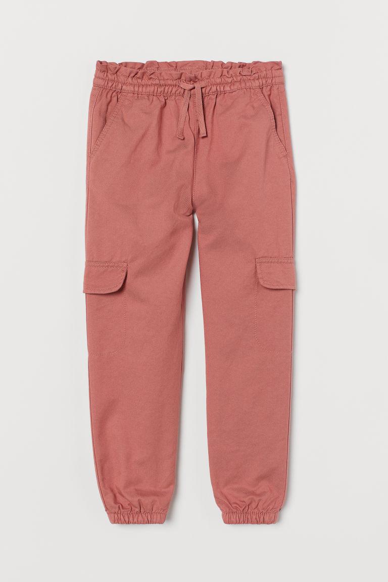 H & M - 鋪內裡工作慢跑褲 - 粉紅色