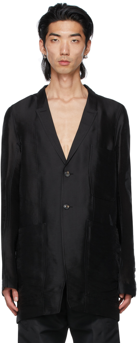Rick Owens 黑色 Lido 西装外套