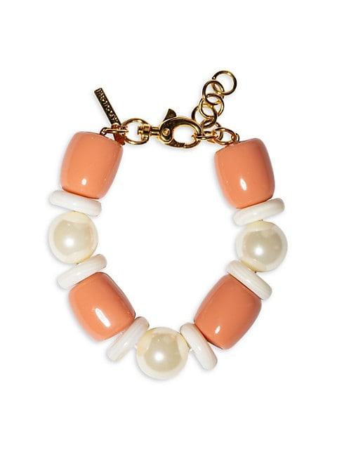 Monaco 14K Goldplated, Acrylic Pearl & Multi-Stone Bracelet