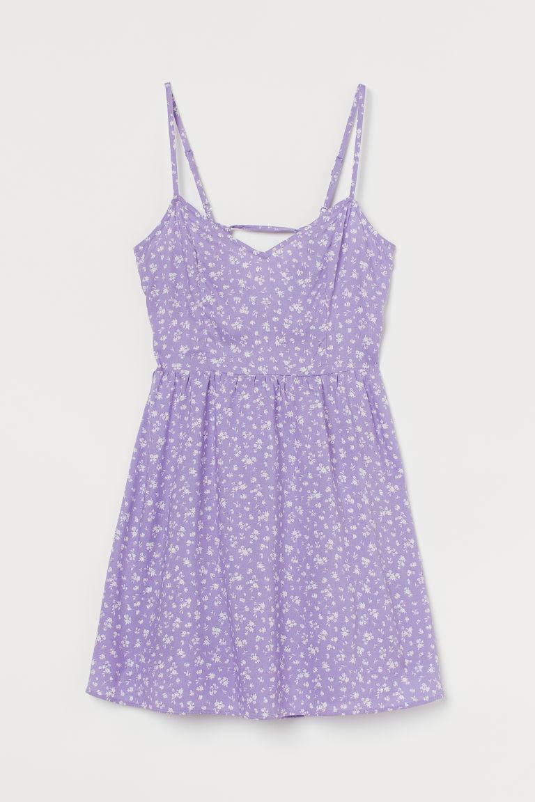 H & M - 短洋裝 - 紫色