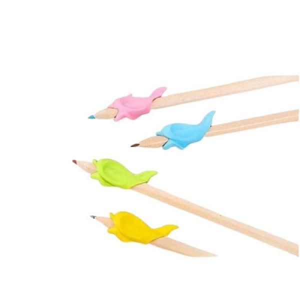 Qmishop 矽膠小魚握筆矯正器【J882】