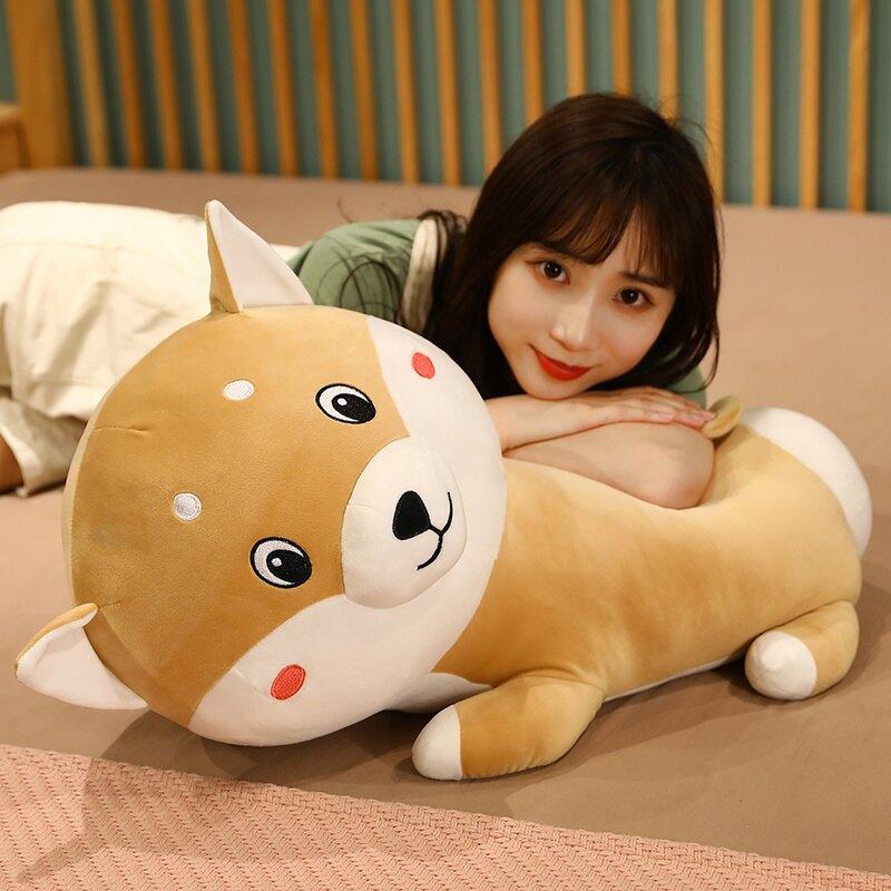 哈士奇毛絨玩具狗熊公仔抱枕女生睡覺布娃娃可愛玩偶大號生日禮物