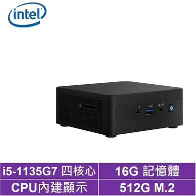 Intel NUC平台i5四核{金刀中將II} 迷你電腦(i5-1135G7/512G M.2 SSD)