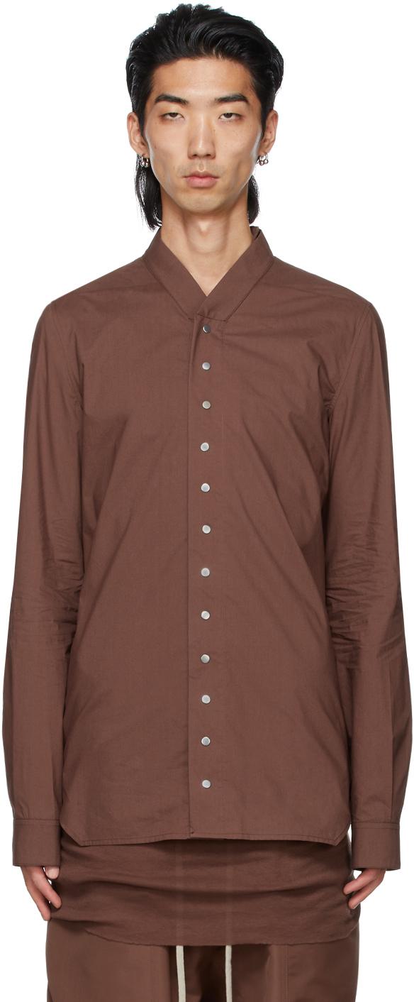 Rick Owens 棕色 Faun 衬衫