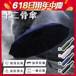 [CP値爆表] 強抗風防曬十二骨傘- 顏色任選2入組_型