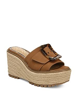 Sam Edelman Women's Livi Buckle Platform Wedge Espadrille Sandals