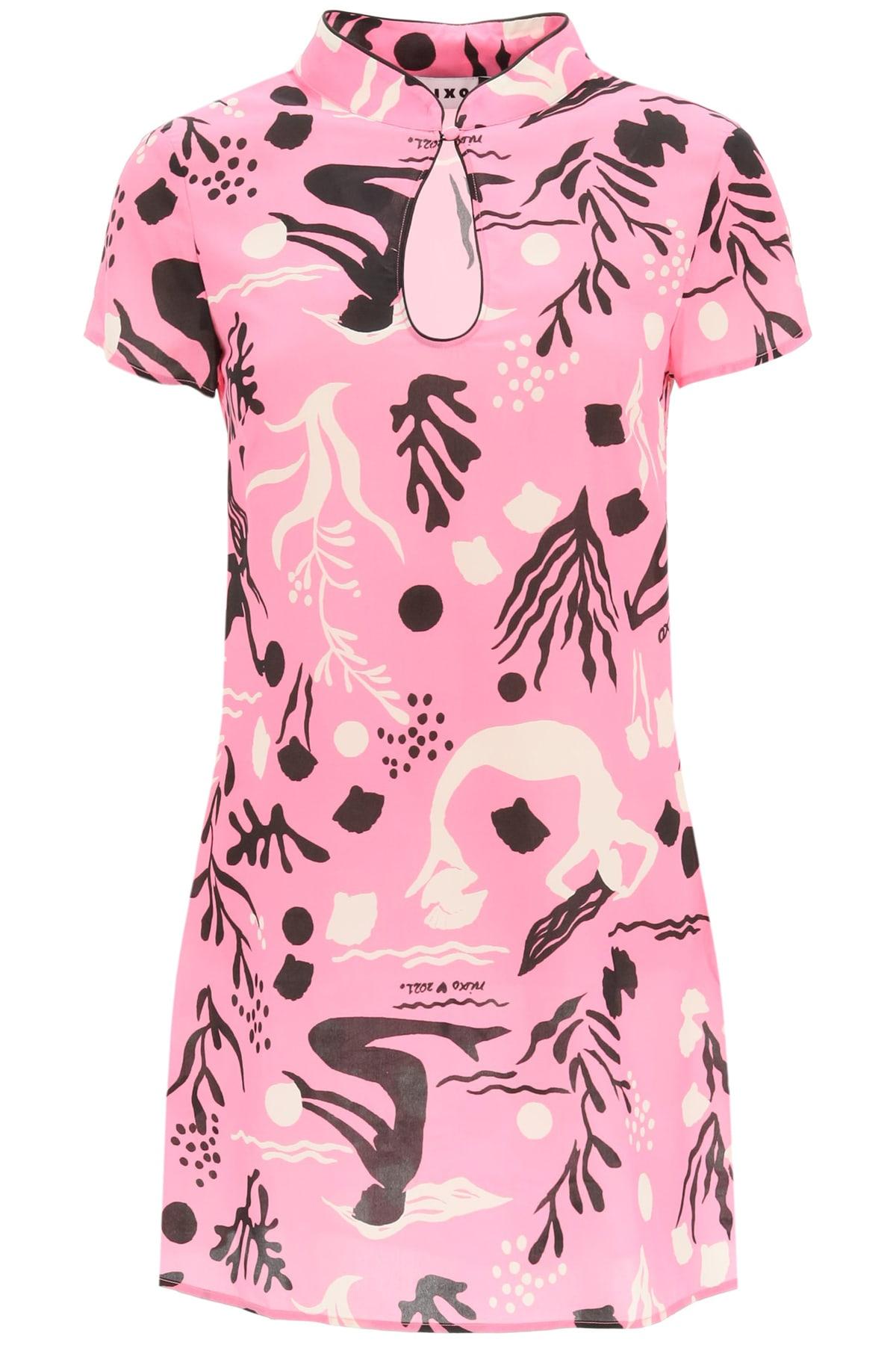 RIXO Lolita Mini Silk Dress