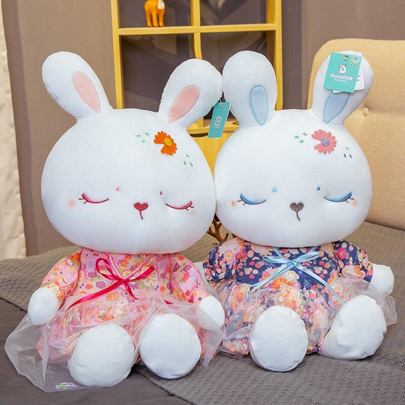 兔子毛絨玩具小號布娃娃女孩可愛超軟萌床上玩偶睡覺抱枕公仔兒童