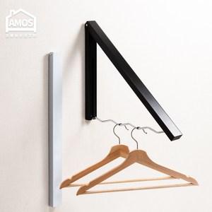 【Amos】收納衣物壁掛架黑色