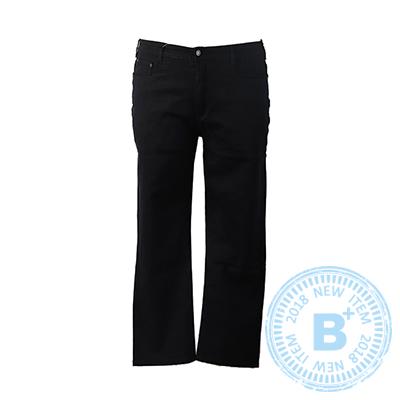 加大尺碼20-246701中直筒牛仔褲-黑