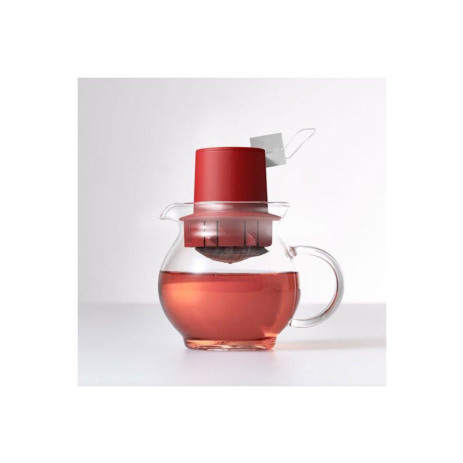 茶包專用紅色泡茶壺