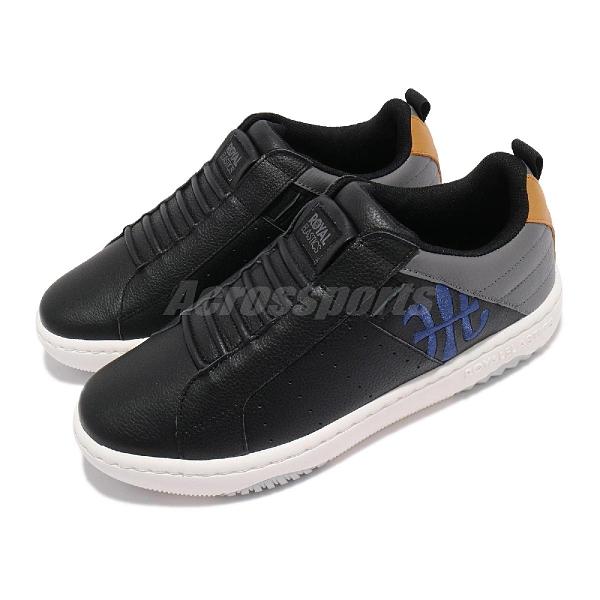 Royal elastics 休閒鞋 Icon 2.0 黑 藍 男鞋 真皮 潮流 運動鞋【ACS】 06512952
