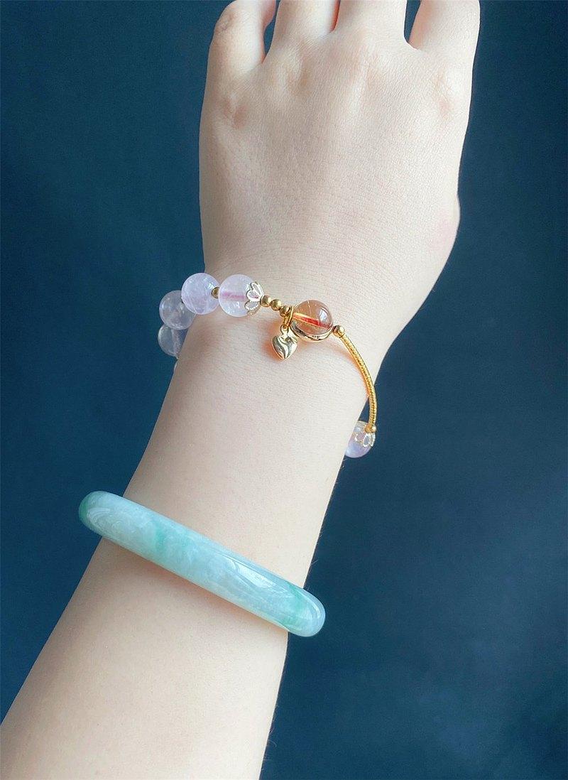 粉晶  桃花人緣款 閨蜜 設計款 手鍊 禮物 天然石 客製化 水晶