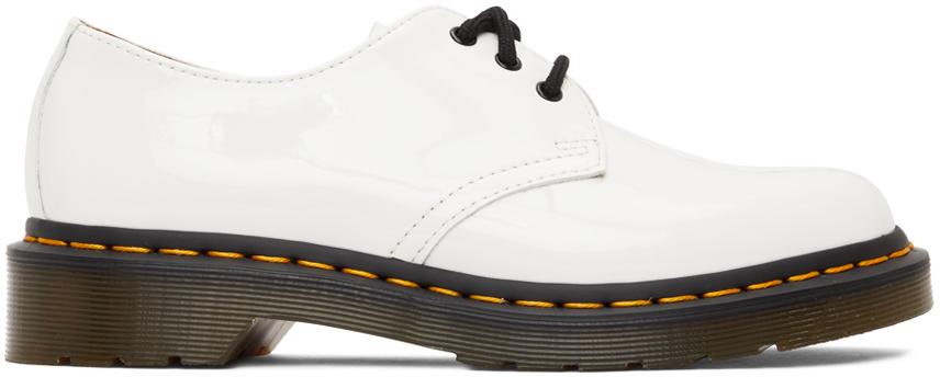 Dr. Martens 白色 1461 漆皮德比鞋