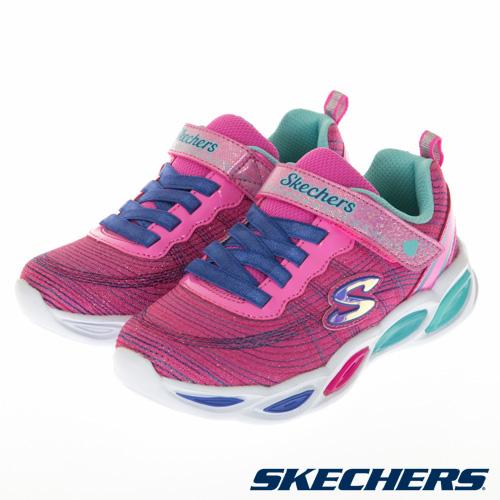 SKECHERS 女童系列 SHIMMER BEAMS 燈鞋 - 20300LPKMT