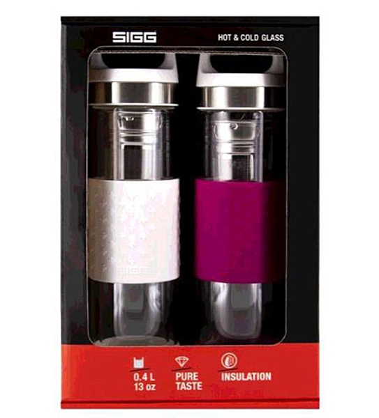 [COSCO代購] C124758 Sigg 雙層玻璃水瓶兩件組 單個容量:400毫升
