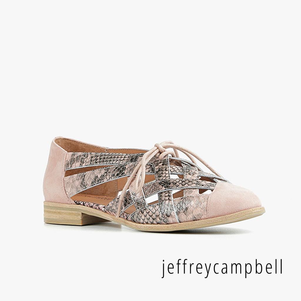 【Jeffrey Campbell】Canela 壓紋編織平底鞋(粉紅)