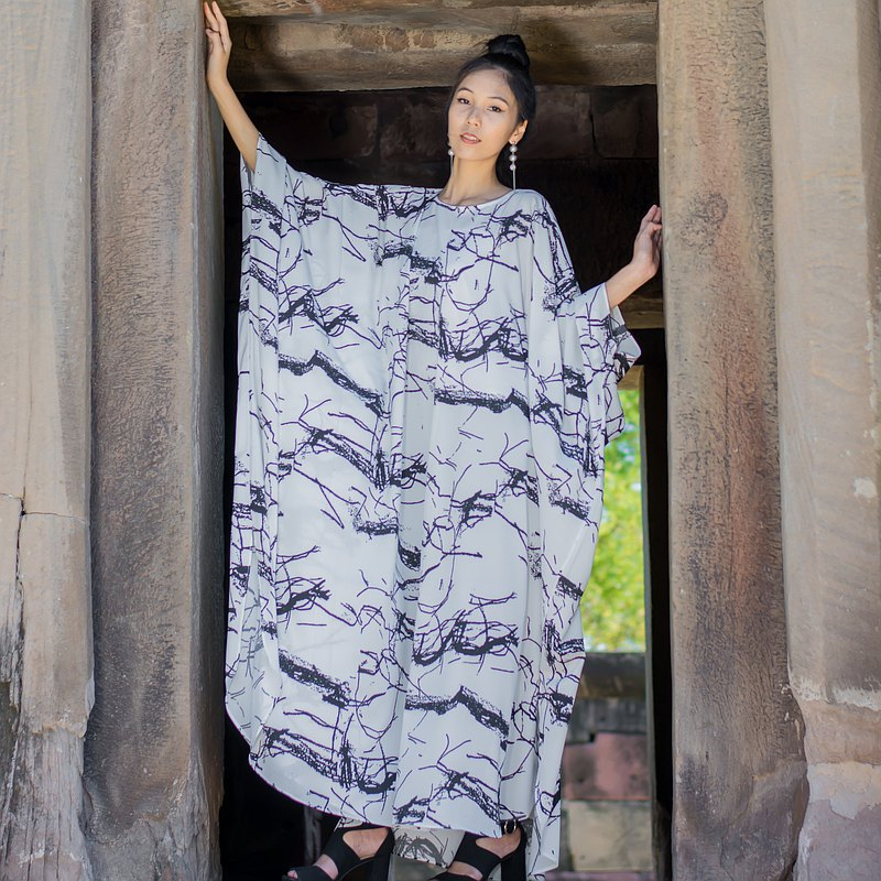 長款白,大理石花紋,阿巴亞連衣裙,迪拜白蝙蝠翼連衣裙