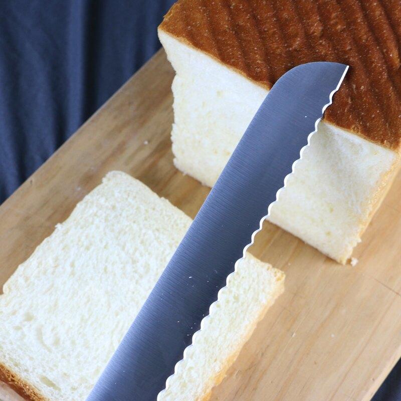 不鏽鋼麵包刀 面包刀切吐司刀切面包鋸刀不銹鋼鋸齒刀蛋糕三明治切片刀土司工具【MJ15339】