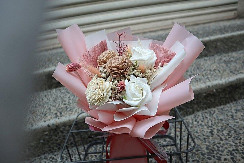 香皂花束 | 香皂乾燥花束 乾燥花 萬用花束 花禮 優雅粉
