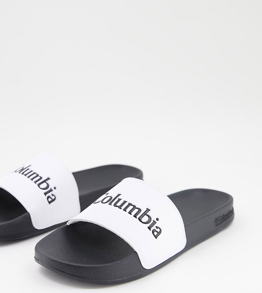 Columbia Hood River sliders in white Exclusive at ASOS