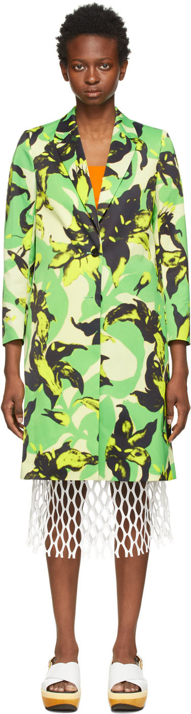 Dries Van Noten 多色 Len Lye 联名 Floral Print 大衣