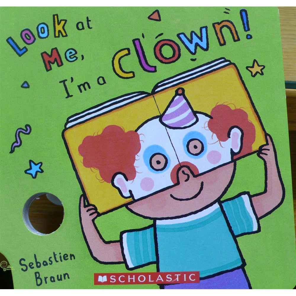 Look At Me Mask Book: I'm A Clown!【禮筑外文書店】(硬頁書)[66折]