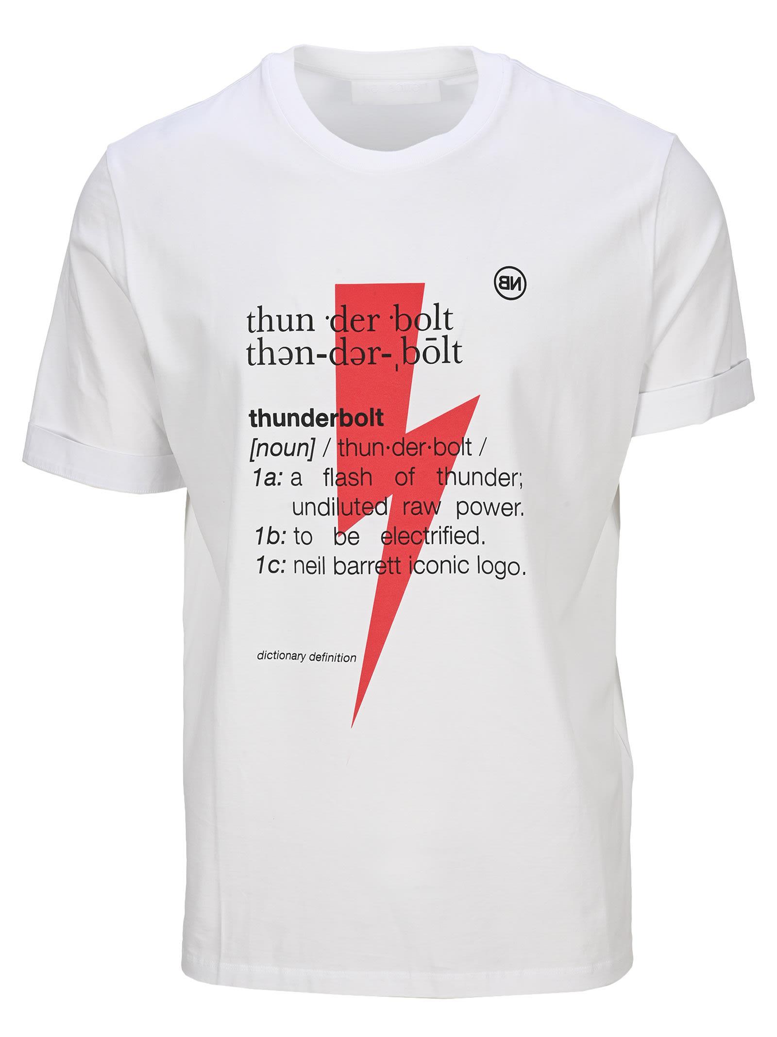 Neil Barrett Thunderbolt Definition T-shirt