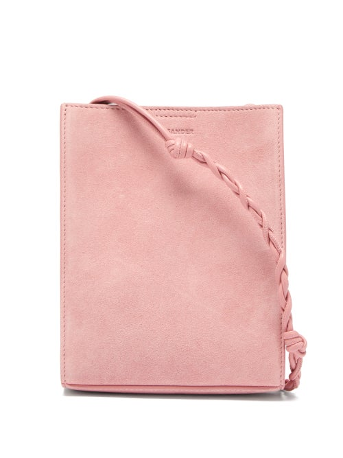 Jil Sander - Tangle Small Braided-strap Suede Shoulder Bag - Womens - Pink
