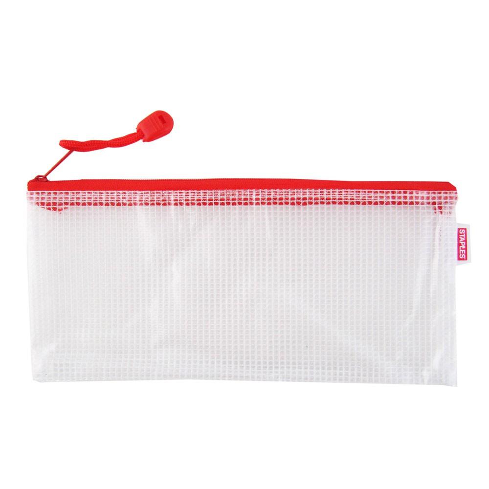 多功能防水防塵網格拉鍊袋 U-02 多功能收納袋 防水袋 筆袋 辦公室文具用品 票據收納袋 |史泰博EZ購