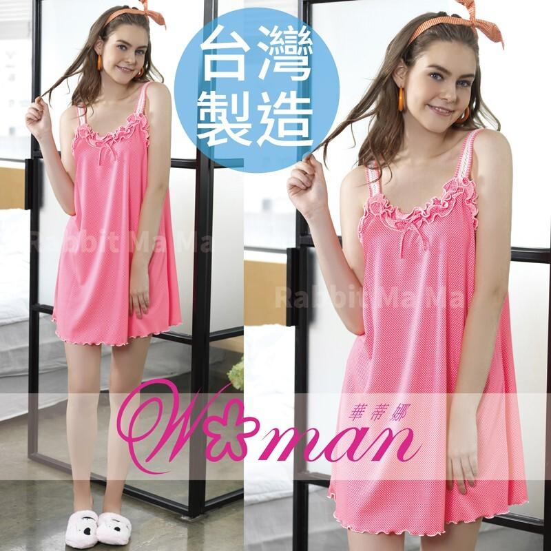 華蒂娜睡衣/台灣製蕾絲背心裙睡衣/舒適居家服裙裝 96020 無袖睡衣/洋裝