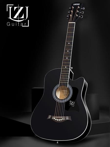 吉他 單板41寸初學者吉他學生38寸新手練習男女生入門琴民謠木吉他樂器 夢藝家