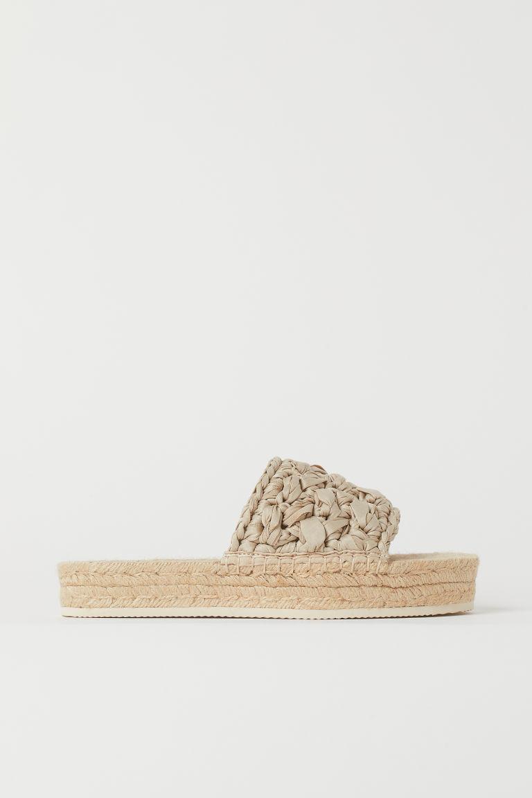 H & M - 厚底涼鞋 - 米黃色