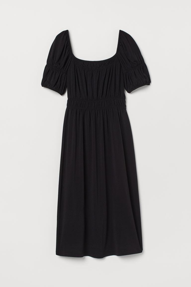 H & M - MAMA 公主袖洋裝 - 黑色