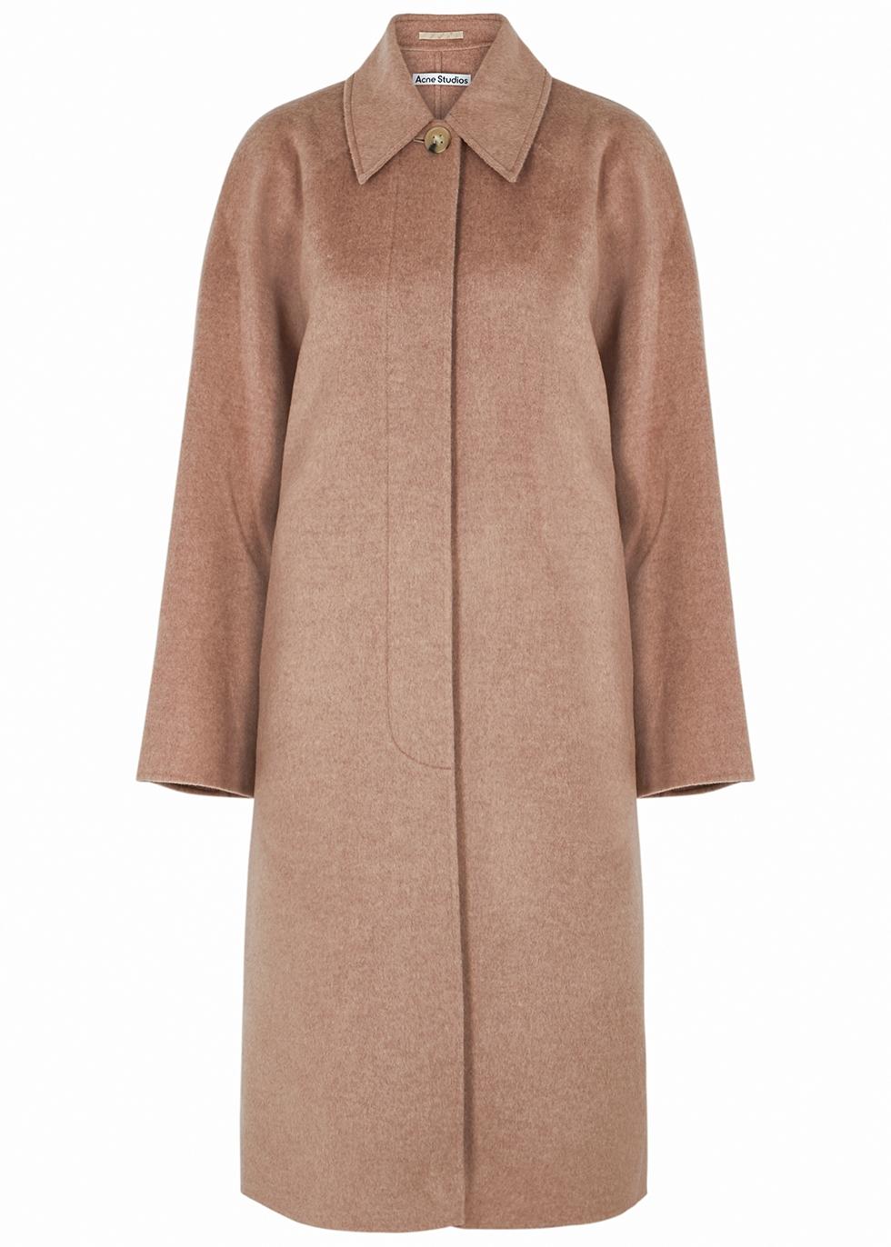 Orea camel belted wool coat
