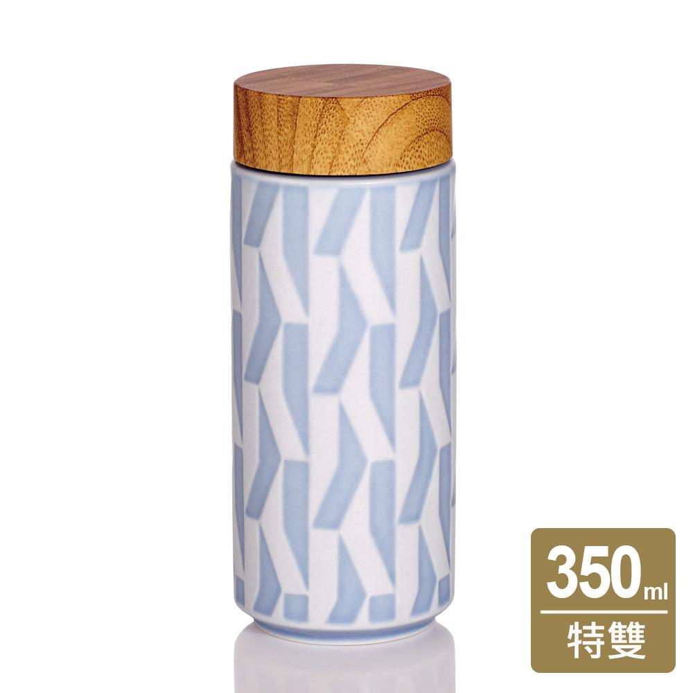 乾唐軒活瓷 | 欣欣向榮隨身杯 / 大 / 特雙 / 芊草藍折射彩 / 仿木紋蓋