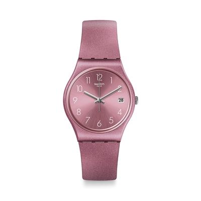 Swatch Core Refresh 系列手錶 DATEBAYA  金屬粉紅 -34mm