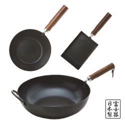 富士器日本鐵製鍋三件組_買一送一-TSV