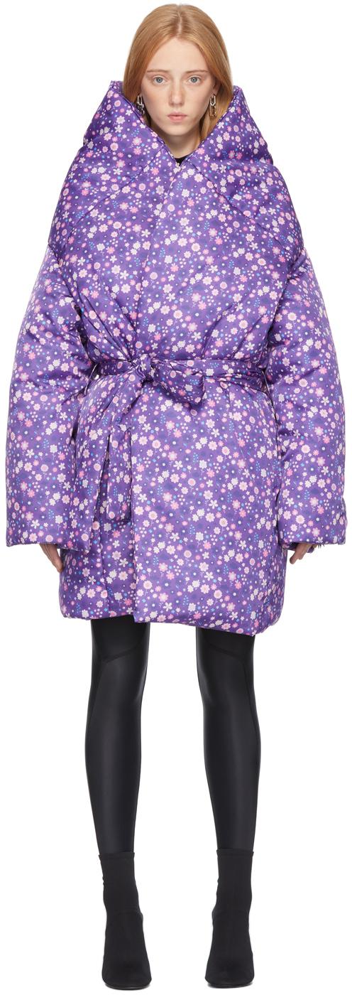 Balenciaga 紫色 Graphic Flower Scooter 大衣