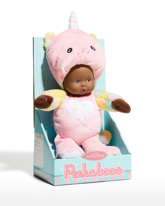 """Peek-A-Boos Unicat Plush Doll, 12"""""""