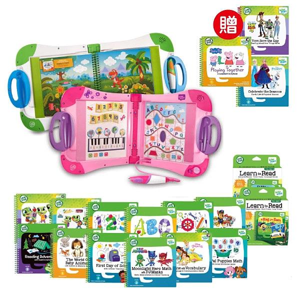 【行動大全套】美國 LeapFrog 跳跳蛙 LeapStart Sr. 全英幼童行動學習機-新版(白/粉)+32本學習書