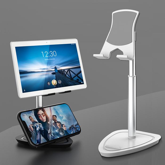 YANGYI揚邑》追劇直播伸縮合金手機平板iPad桌上支架黑