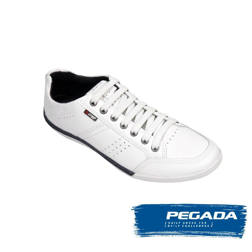 【PEGADA】素面透氣多功能休閒鞋 浪漫白(114072-WH)