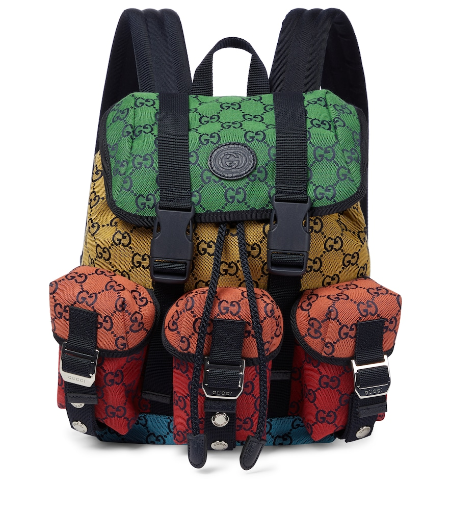 GG Small canvas backpack