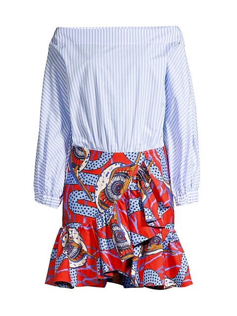 Off-The-Shoulder Mixed Dress