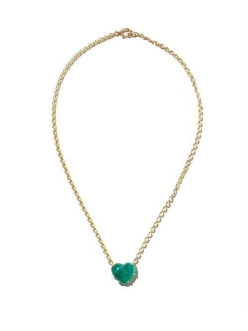 Irene Neuwirth - Love Emerald & 18kt Gold Necklace - Womens - Green