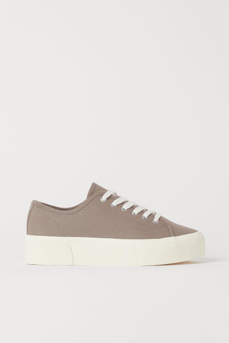 H & M - 厚底運動鞋 - 褐色